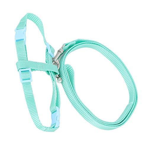 Rodipu Hamsterleine, kleines Haustiergeschirr, leichtes, weiches Fasergewebe Einstellbarer Haustierschutz Pet Supply für Pet Walking Small Pet