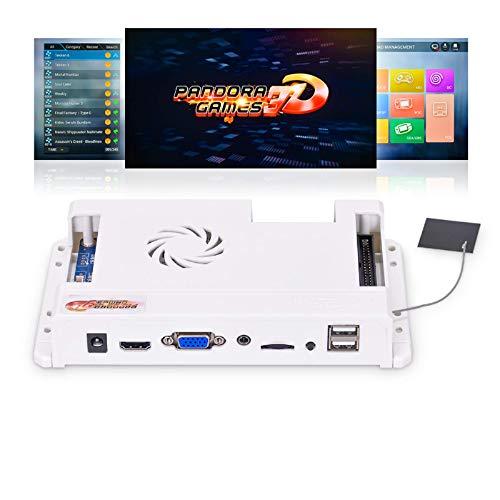TAPDRA 4018 Juegos (148 3D Juegos ) Pandora 3D WiFi Arcade Board hasta 4 Jugadores Kit de Bricolaje Soporte Descargar hasta 10000+ Juegos