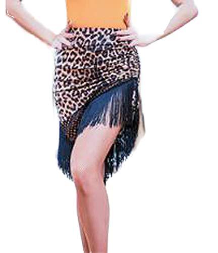 my cat Falda latina para mujer, con flecos, sexy, leopardo, danza, faldas, mujeres, adultos, vestido latino