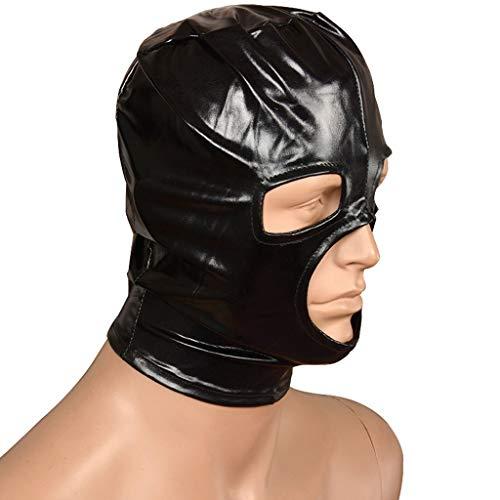 ZZDD FlExyh Sexy Hollow Face Cover Paar Rollenspiel Requisiten Atmungsaktiv Reißverschluss Kopf Ärmel Sonnenbrille Sunglasses Raincoat