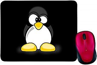 Alfombrilla de ratón, diseño de animales, pinguin-tux, color negro