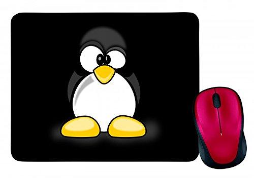 Mauspad in Schwarz Linux Pinguin TUX