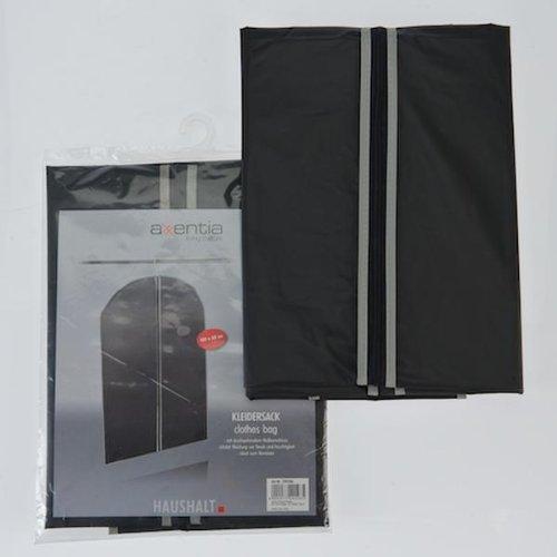 Kleidersack 150x60 cm schwarz/grau PEVA 40g/m²