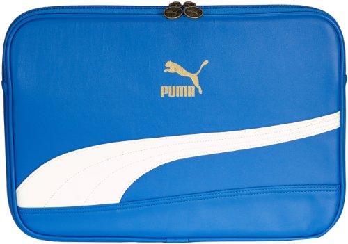 PUMA Laptop Tasche Bytes Sleeve, Victoria Blue-White,36.8 x 43.4 x 3.1 cm, 071926 06