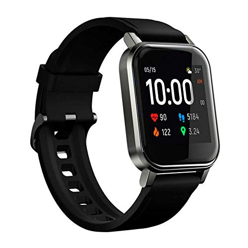 Xiaomi Haylou LS02 Versão global Smart Watch 2 1.4 polegadas tela LCD BT 5.0 12 modos esportivos IP68 à prova d'água 20 dias em espera Relógio de pulso pulseira de fitness de frequência cardíaca