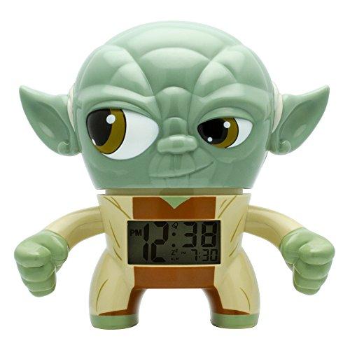 Bulb Botz Star Wars Yoda Kids Light up Alarm Clock | Green/Brown | Plastic | 7.5 Inches Tall | LCD Display | Boy Girl | Official