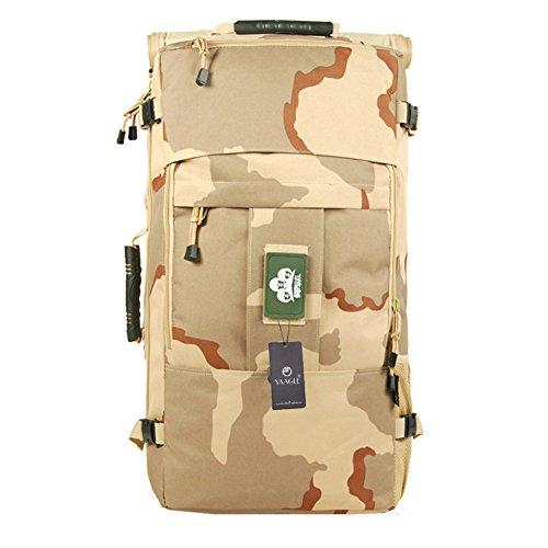 YAAGLE Sporttasche Gepäck militärisch Outdoor Schultertasche Reisetache Rucksack Sonnenschutzmittel Trekkingrucksack-Camouflage(22-inch)