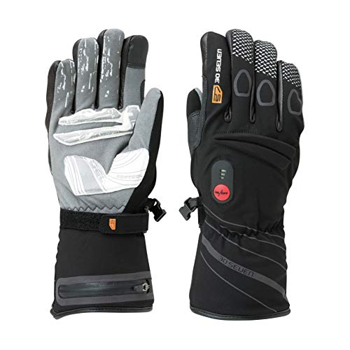 30seven Heated Gloves Batteries Tear Wind Waterproof Black Large