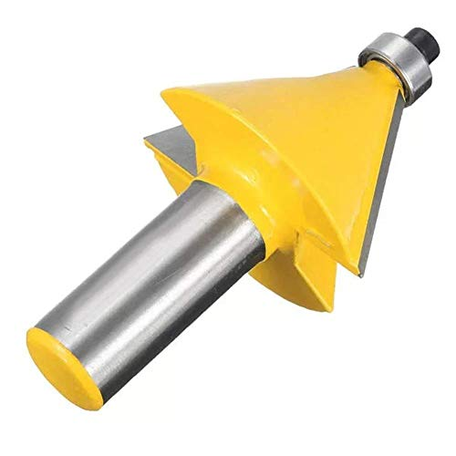 KONGZIR Shank 30 Degree Chamfer and Bevel Edging Router Bit for Woodworking Cutting 1/2 Inch Router Bits