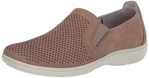 Aravon womens Lia Slipon Sneaker, Taupe, 8.5 Wide US