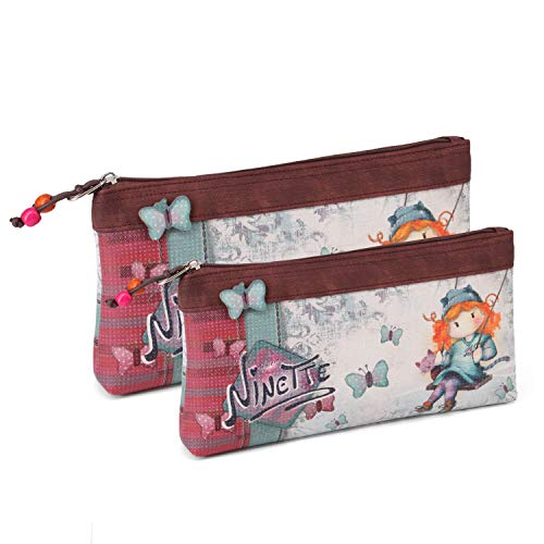 Forever Ninette Forever Ninette Swing-Set of Two Cosmetic Bags Toiletry...