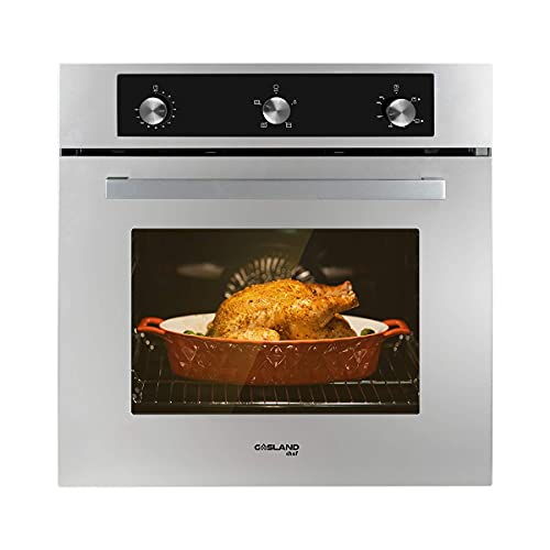 """Single Wall Oven, GASLAND Chef GS606MSLPN 24"""" Built-in Propane Gas Oven, 6 Cooking Function Convection Gas Wall Oven with Rotisserie, Mechanical Knob Control, 120V Electric Ignition, Stainless Steel"""