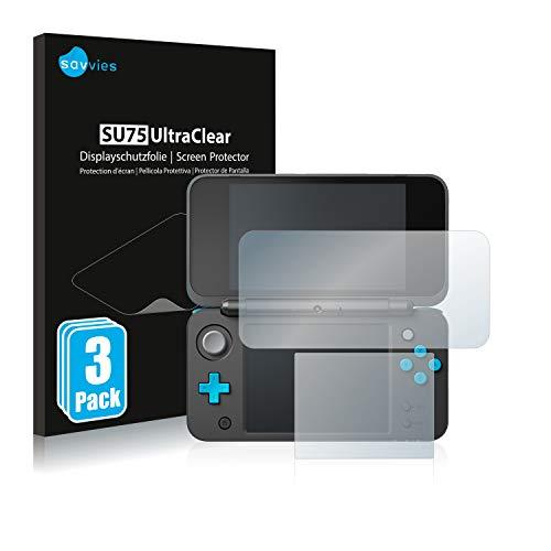 savvies Protector Pantalla Compatible con New Nintendo 2DS XL (6 Unidades) Película Ultra Transparente