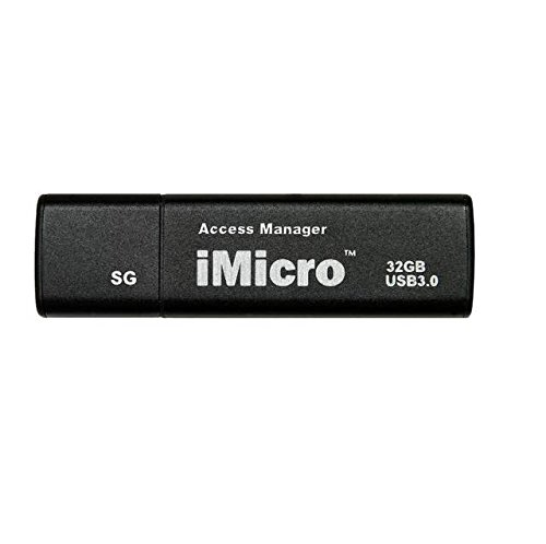 iMicro USB 3.0 Password Protection Flash Drive Sliver Grade 32GB(Black)