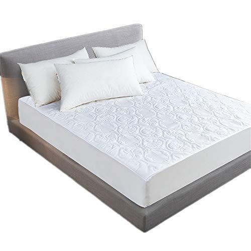 Bettlaken,Weißes gestepptes wasserdichtes Bettlaken, urinsichere geprägte Betttasche, feuchtigkeitsbeständige Simmons-Schutzhülle - 220 * 200 * 30 cm