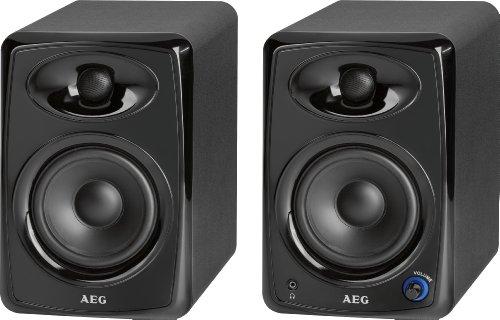 AEG BSS 4812 Bluetooth Lautsprecher System (2 Stück, 100 Watt RMS, AUX-IN, USB)
