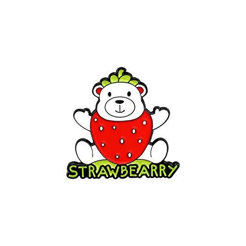 Broche de esmalte de frutas, paleta de perro personalizada, aguacate, gato, broches de gayuba, bolsa, broche de solapa, insignia de dibujos animados, regalo de joyería para niños, amigos, paja