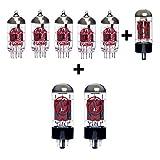 Replacement valve Kit for Bogner Duende (4 x ECC83 1 x Balanced ECC83 1 x GZ34 2 x Matched 6V6S)