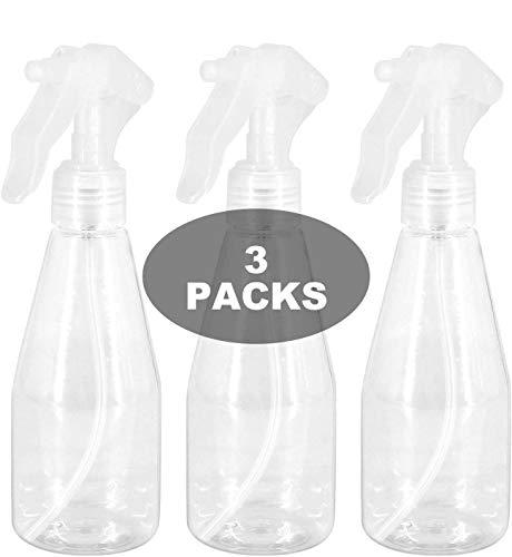 Wady 3pcs ricaricabile, flacone spray con vaporizzatore, trasparente, 200 ml