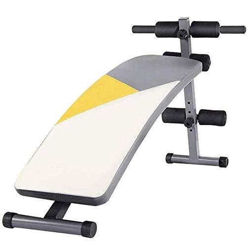 Equipo de entrenamiento Banco de peso Tablero de abdominales ajustable, Equipo de fitness Moda simple Sit-ups Equipo de fitness Multi-rango Ejercicio multifunción Belleza de belleza Cintura abdominal