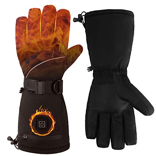 Heated Gloves,3 Heating Temperature Adjustable Touchscreen Waterproof Winter Gloves Battery Power Heating Gloves for for Men Women,Outdoor(L)