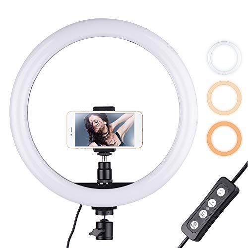 12 inch Outer Fotografie LED selfie ring licht lamp 2700-5500 K dimbaar met telefoon houder/statief voor make-up video live studio licht