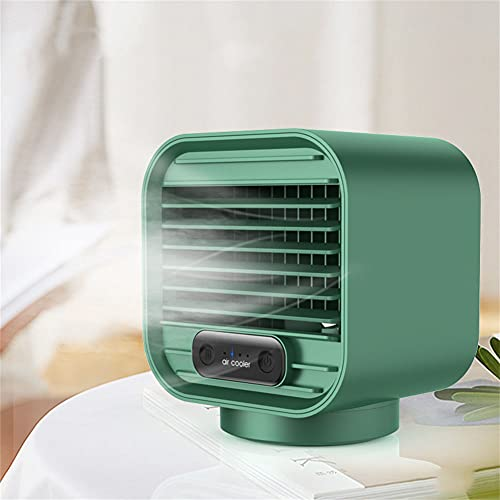 xiuxiu Air Cooler Battery Operated Personal Conditioner with 3 Speeds 7 Colors Night Light Rechargeable USB AC Mini Desktop Fan for Small Room Office Camping Car Bedroom