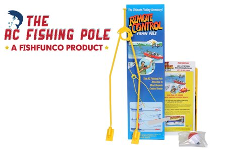 """""""The R/C Fishing Pole""""- Catch's fish with any r/c boat!"""