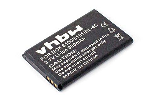 vhbw Li-Ion Akku 900mAh (3.7V) für Seniorentelefon, Handy Emporia Telme C140 wie AK-C140.