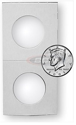 500 Count 2X2 Premium Cardboard Coin Holders – Penny, Nickel, Dime, Quarter and Half Dollar