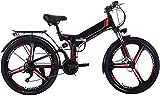 Bicicletas Eléctricas, Plegable eléctrico de bicicletas de montaña, 26' bicicleta eléctrica de 48V con 8AH / 10AH extraíble de iones de litio, 300W motor eléctrico plegable bicicleta de montaña ,Bicic