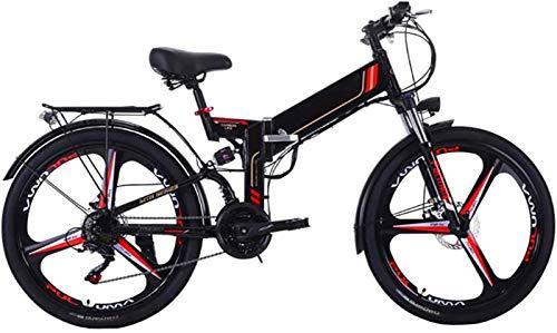RDJM Bici electrica, Plegable eléctrico de Bicicletas de montaña, 26