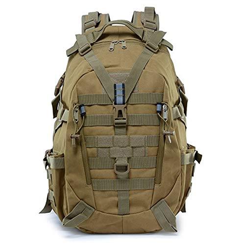 SCAYK 40L Camping Backpack Bag Men Travel Bags Climbing Rucksack Hiking Outdoor Reflective gym backpack hiking bags rucksacks for men backpack mens bike (Capacity : 30 40L, Color : Khaki)
