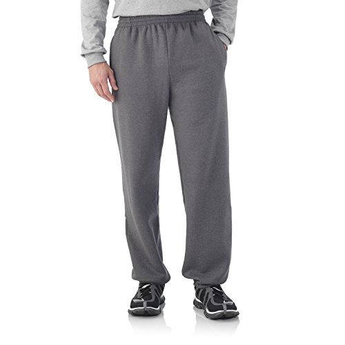Fruit of the Loom Best Collection&#8482 Men's Fleece Elastic Bottom Pant Large Charcoal Heather