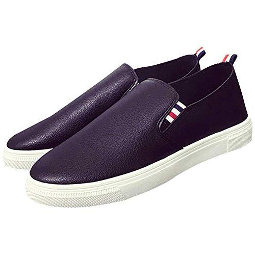 [エアバイ] メンズ トリコロール スリッポン 大人 男 上履き デッキ シューズ キャンバス 靴 スニーカー すりっぽん おしゃれ お洒落 オシャレ 幅広 かかと かわいい 可愛い かっこいい ファッション ひも なし ウォーキング ユニセックス カジュアル オフィス スクール スポーツ ぺったんこ 幅広い はばひろ ペッタンこ くつ ブラック 黒 サイズ 25.5 cm A001-BK41