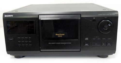 Sony CDP-CX205 Compact Disc Player 200 CD Storage High Density Linear Converter System