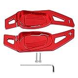Volante del coche Shift Paddle Shifter Aluminio Decoración Decal Cover Frame Shifters Paletas Etiqueta para A5 S3 S5 S6 SQ5 RS3 RS6 RS7(rojo)