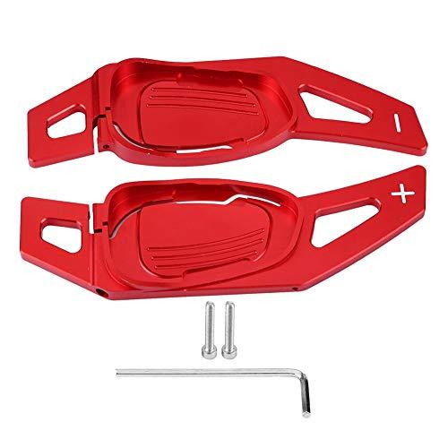 Schaltwippen Verlängerung Schaltug Shift Auto Lenkrad Shift Paddel Shifter Aluminium Dekoration Aufkleber Rahmen Cover Shifters Paddles Aufkleber für A5 S5 S6 SQ5 RS6 RS7(Rot)