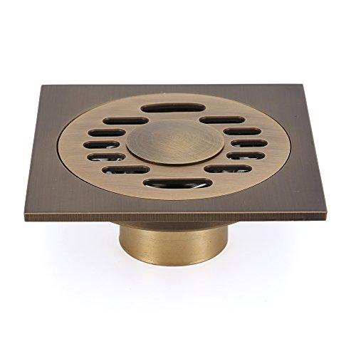 erídano, baño sumidero latón, 100mm, libre de óxido ducha, diseño antiguo