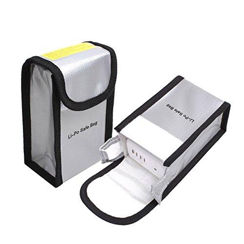 O'woda 1 Stück Feuerbeständige Explosionsschutz Lipo Batterie-sicherer Beutel-Hülsen-Lipo Battery Guard Tasche Sack Gebühren-Schutz-Tasche für DJI Phantom 2 / 4 / 3 Inspire 1