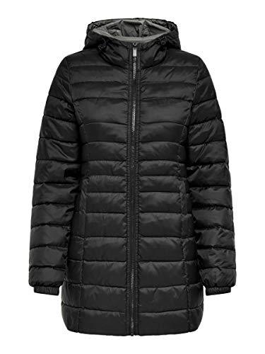 ONLY Damen ONLNEWTAHOE Quilted Coat OTW Jacke, Black, S