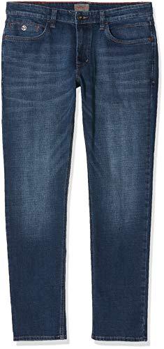 Hattric Herren Cross Denim Harris Straight Jeans, Blue 42, W40/L30