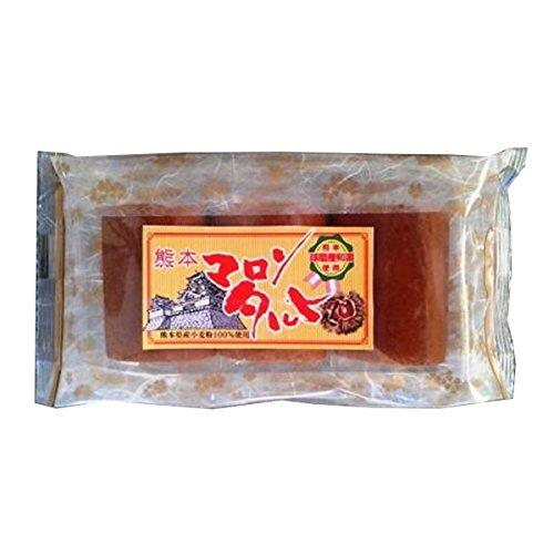 熊本 マロンあん巻 (3個入)×16個×3ケース イソップ製菓 熊本産和栗使用 自家製あんこのしっとり和風ロールケーキ