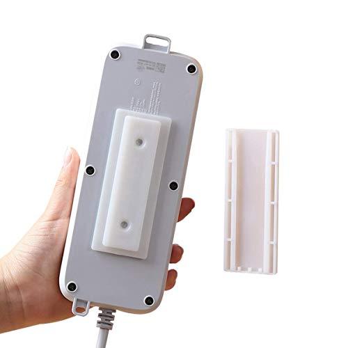 pepplo 2PCS Kitchen Bathroom Wall self Adhesive Socket Power Line Holder, Router Holder