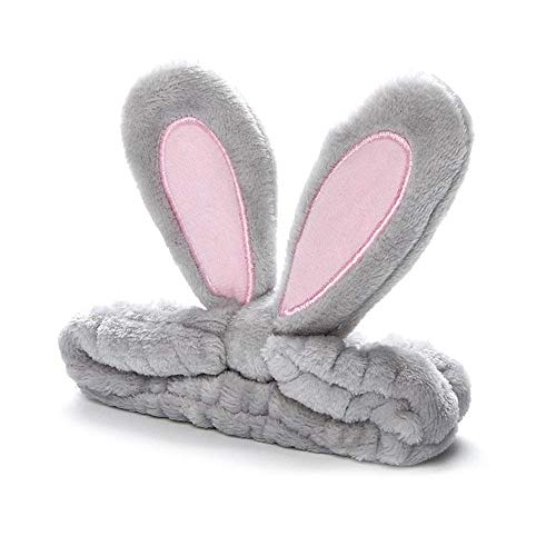 Rabbit Bunny Ear Makeup Stirnband Weiches Haarband Korallenvlies Elastische Haarschlaufe Damen Dusche Cosplay Weiche Katzenohren Flauschiges Gesichtswaschband Süße Turban-Haarbänder Kopfbedeckungen