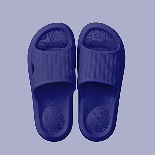 ZZLHHD Chanclas de Masaje,Breathable Anti-stinking Couple Slippers, Bathing Non-Slip Massage slippers-39-40_Deep Blue/Men,Sandalias De Reflexología Terapéutica