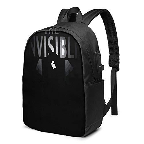 IUBBKI Bolsa para computadora mochila USB The Invi-Sible M-An 17 Inch Laptop Backpack For Men & Women,Travel/School Backpack With Usb Charging Port & Headphone Interface