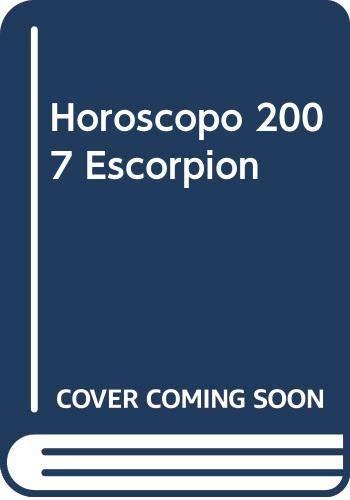 Horoscopo 2007 Escorpion