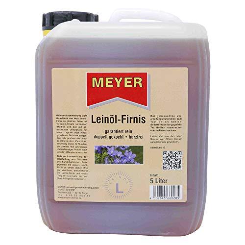 Leinölfirnis, Leinöl, Firnis, Holzschutz, Bindemittel, 5 Liter Gebinde