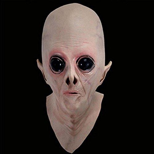 Demarkt Alien Full Head Latex Masker Fancy Jurk Halloween Bösle Spirituos Masker Ghost Latex Masker Horror hoofddeksel Alien siliconen hoes